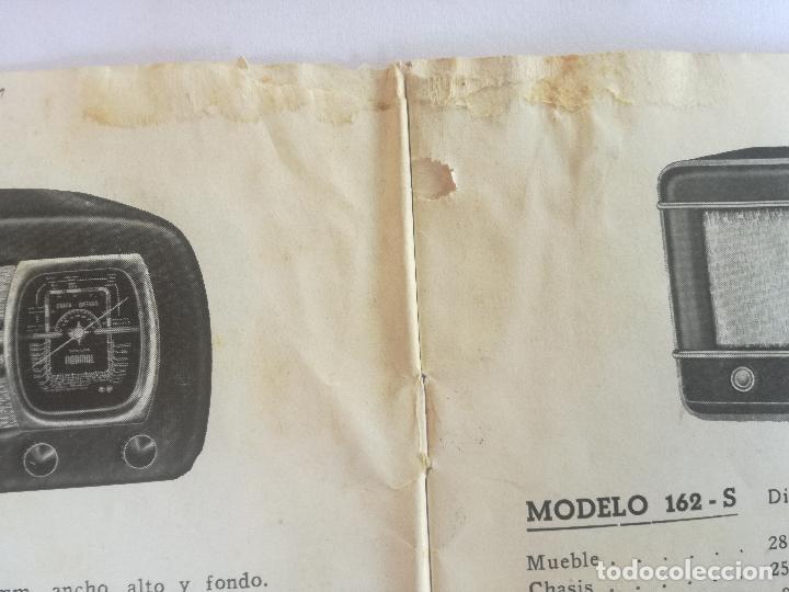 Radios antiguas: MODELOS DE RECEPTORES Y RADIOGRAMOLAS PARA 1949 ANTIGUA CASA BRUNET - ANTIGUO CATALOGO RADIOS - Foto 6 - 142701302