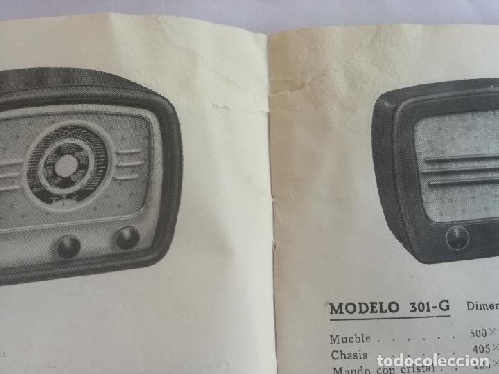 Radios antiguas: MODELOS DE RECEPTORES Y RADIOGRAMOLAS PARA 1949 ANTIGUA CASA BRUNET - ANTIGUO CATALOGO RADIOS - Foto 8 - 142701302