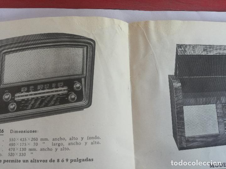 Radios antiguas: MODELOS DE RECEPTORES Y RADIOGRAMOLAS PARA 1949 ANTIGUA CASA BRUNET - ANTIGUO CATALOGO RADIOS - Foto 11 - 142701302