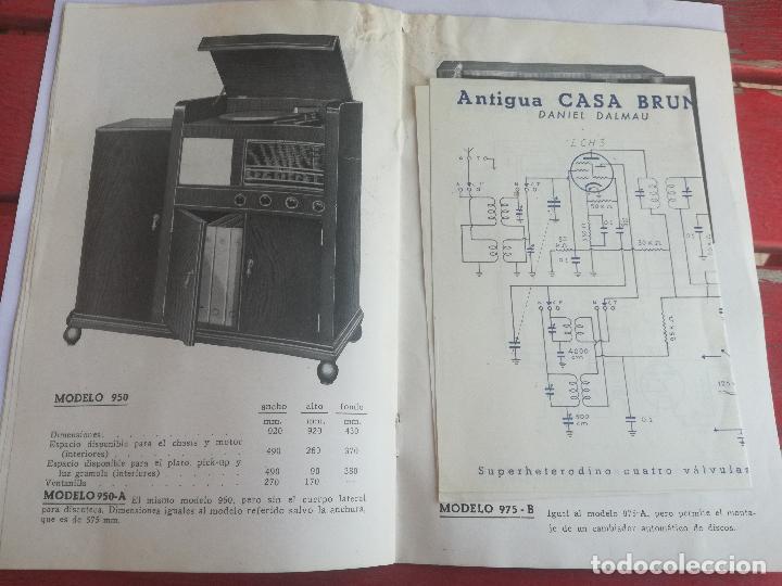 Radios antiguas: MODELOS DE RECEPTORES Y RADIOGRAMOLAS PARA 1949 ANTIGUA CASA BRUNET - ANTIGUO CATALOGO RADIOS - Foto 13 - 142701302