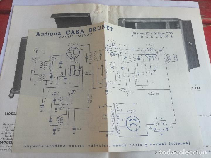 Radios antiguas: MODELOS DE RECEPTORES Y RADIOGRAMOLAS PARA 1949 ANTIGUA CASA BRUNET - ANTIGUO CATALOGO RADIOS - Foto 14 - 142701302