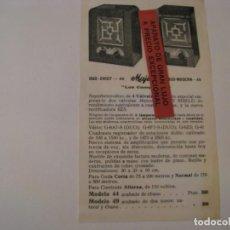 Radios antiguas: FOLLETO DE PUBLICIDAD DE RADIO MAJESTIC DUO CHIEF 44 Y DUO MODERN 49. AÑOS 30.. Lote 143101086