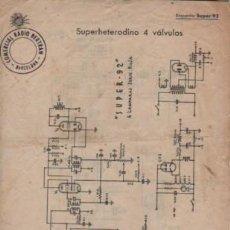 Radios antiguas: HOJA COMERCIAL RADIO BERTRAN D BARCELONA DEL SUPERHETERODINO 4 VÁLVULAS . Lote 143703838