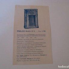 Radios antiguas: FOLLETO DE PUBLICIDAD DE RADIO PHILCO MODELO 18 X Y 18 BABY GRAND. PAPEL DOBLE CARA. AÑOS 30.. Lote 144621498