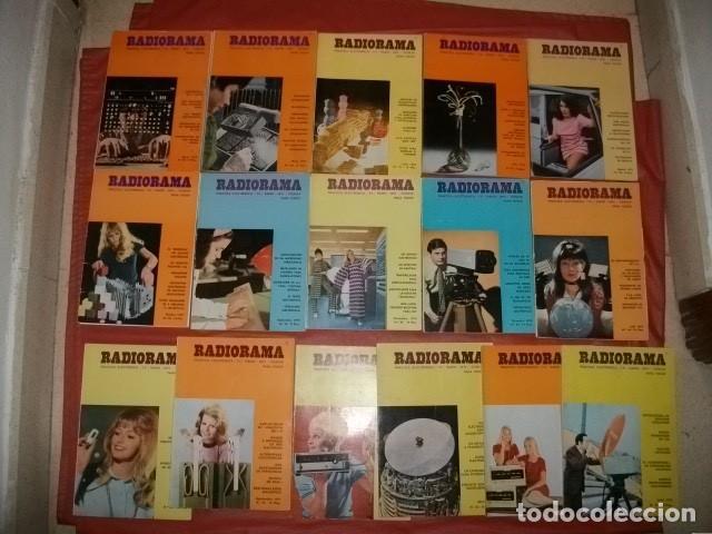 LOTE DE 16 NÚMEROS DE LA REVISTA RADIORAMA (AÑOS 1970-1972) (Radios, Gramófonos, Grabadoras y Otros - Catálogos, Publicidad y Libros de Radio)