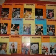 Radios antiguas: LOTE DE 16 NÚMEROS DE LA REVISTA RADIORAMA (AÑOS 1970-1972). Lote 144726954