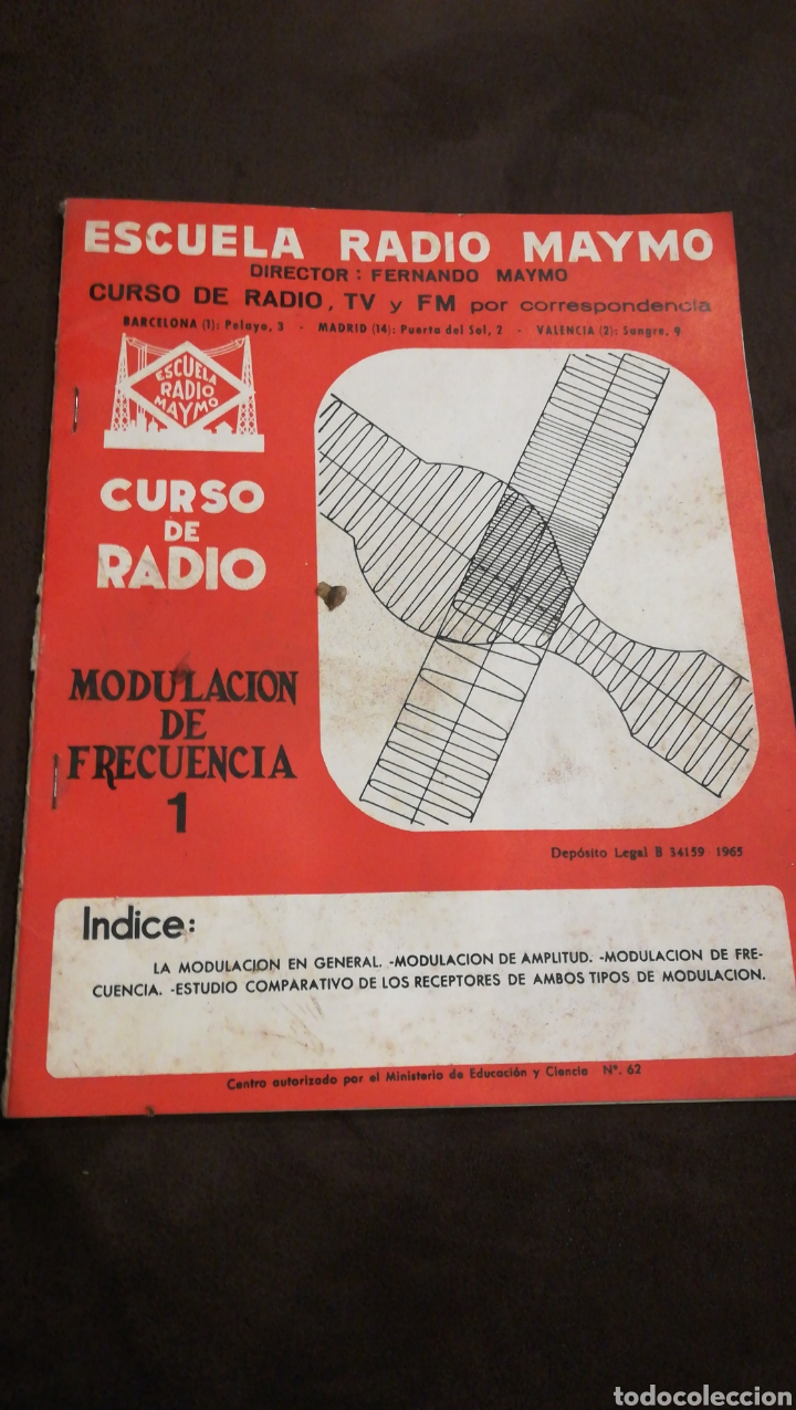 ESCUELA DE RADIO MAYMO N62 (Radios, Gramófonos, Grabadoras y Otros - Catálogos, Publicidad y Libros de Radio)