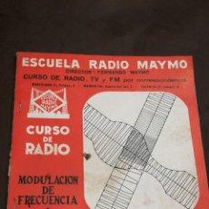 Radios antiguas: ESCUELA DE RADIO MAYMO N62. Lote 145411553