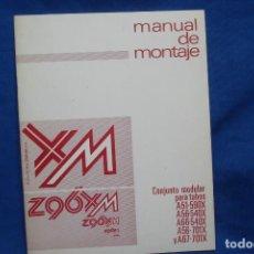 Radios antiguas: -Z96XM - CONJUNTO MODULAR PARA TUBOS - MANUAL DE MONTAJE - ELECTRÓNICA CLARIVOX. Lote 145543982
