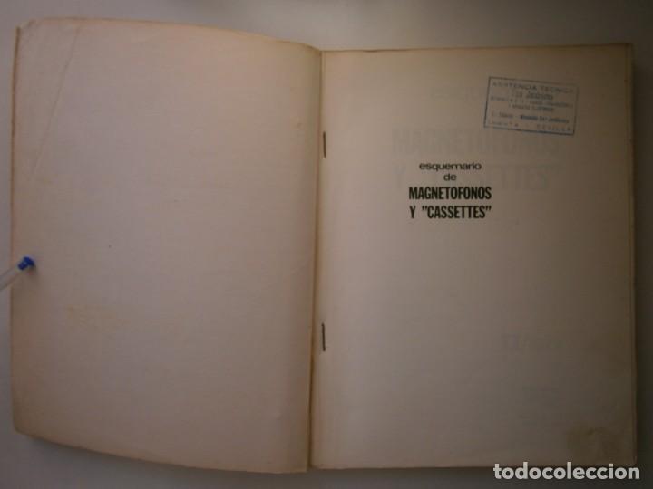Radios antiguas: ESQUEMARIOS DE MAGNETOFONOS Y CASSETTES II AJUSTES REPARACION GRABACION REDE 1973 - Foto 8 - 146377470