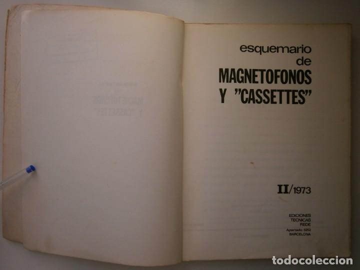 Radios antiguas: ESQUEMARIOS DE MAGNETOFONOS Y CASSETTES II AJUSTES REPARACION GRABACION REDE 1973 - Foto 9 - 146377470