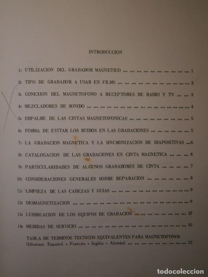 Radios antiguas: ESQUEMARIOS DE MAGNETOFONOS Y CASSETTES II AJUSTES REPARACION GRABACION REDE 1973 - Foto 11 - 146377470