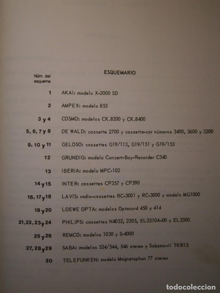 Radios antiguas: ESQUEMARIOS DE MAGNETOFONOS Y CASSETTES II AJUSTES REPARACION GRABACION REDE 1973 - Foto 12 - 146377470