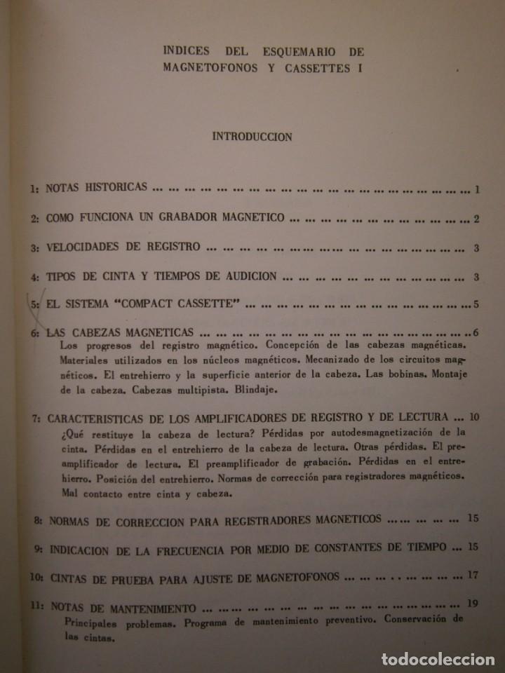 Radios antiguas: ESQUEMARIOS DE MAGNETOFONOS Y CASSETTES II AJUSTES REPARACION GRABACION REDE 1973 - Foto 13 - 146377470