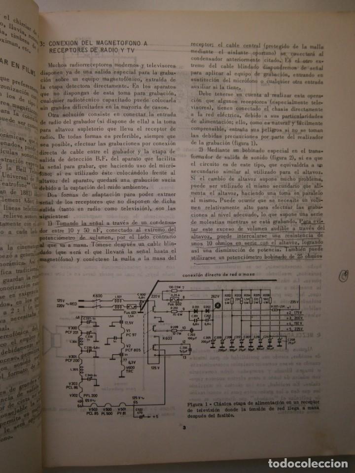 Radios antiguas: ESQUEMARIOS DE MAGNETOFONOS Y CASSETTES II AJUSTES REPARACION GRABACION REDE 1973 - Foto 15 - 146377470
