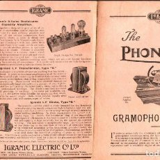 Radios antiguas: FOLLETO THE PHONOVOX GRAMOPHONE PICKUP. Lote 146424642