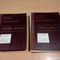 Radios antiguas: ANTIGUO CURSO DE RADIO ESCUELA SUPERIOR RADIOELÉCTRICIDAD IGUALADA. Lote 146485762