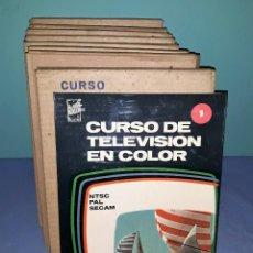 Radios antiguas: CURSO DE TELEVISION EN COLOR REDE COMPLETO 8 TOMOS AÑO 1967 EN MUY BUEN ESTADO SI USO VER FOTOS. Lote 146950210