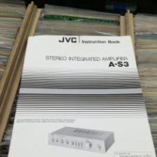 Radios antiguas: INSTRUCCIONES MANUAL AMPLIFICADOR JVC A-S3. Lote 147615765