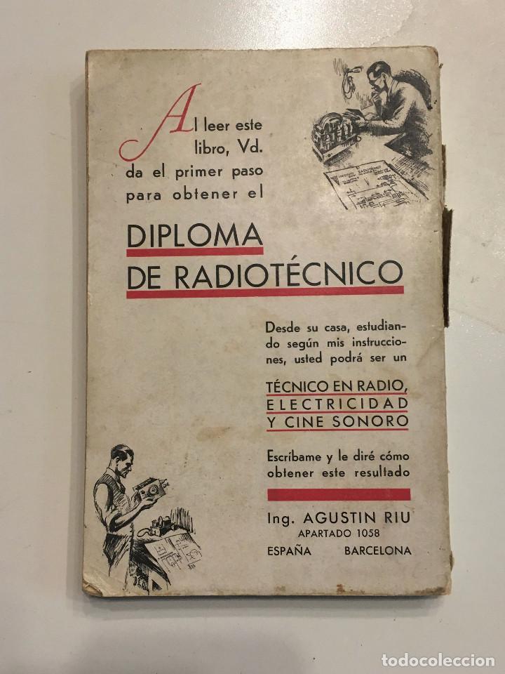 Radios antiguas: Guía práctica de radio por el Ingeniero Agustín Riu de Ed. Sintes en Barcelona 1939 (firmado) - Foto 6 - 149894854