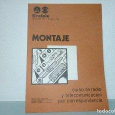 Radios antiguas: CUADERNILLO DEL CURSO ERATELE . Lote 152485086