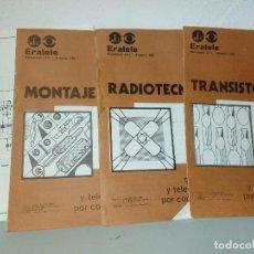 Radios antiguas: CUADERNILLOS DEL CURSO ERATELE. Lote 152485426