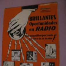Radios antiguas: REVISTA PUBLICIDAD DE INSTITUTO DE RADIO. LOS ANGELES. E.E.U.U. 1934.. Lote 152970758