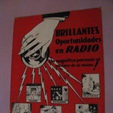 Radios antiguas: REVISTA PUBLICIDAD DE INSTITUTO DE RADIO. LOS ANGELES. E.E.U.U. 1937.. Lote 152971170