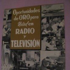 Radios antiguas: REVISTA PUBLICIDAD DE INSTITUTO DE RADIO. LOS ANGELES. E.E.U.U. 1956.. Lote 152971370