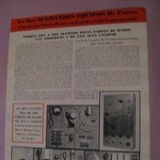 Radios antiguas: FOLLETO PUBLICIDAD RADIORRECEPTOR DE INSTITUTO DE RADIO. LOS ÁNGELES. E.E.U.U. AÑOS 40.. Lote 152972122