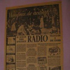 Radios antiguas: 2 RECORTES DE LOS PERIÓDICOS DE INSTITUTO DE RADIO Y TELEVISIÓN. LOS ÁNGELES. E.E.U.U. AÑOS 30.. Lote 152973770