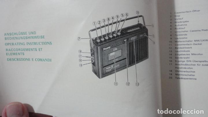 Radios antiguas: MANUAL INSTRUCCIONES.RADIO RECORDER.RADIO CASSETTE.CASSETE.POPPY.MODELO CR224.AM-FM - Foto 2 - 153742730