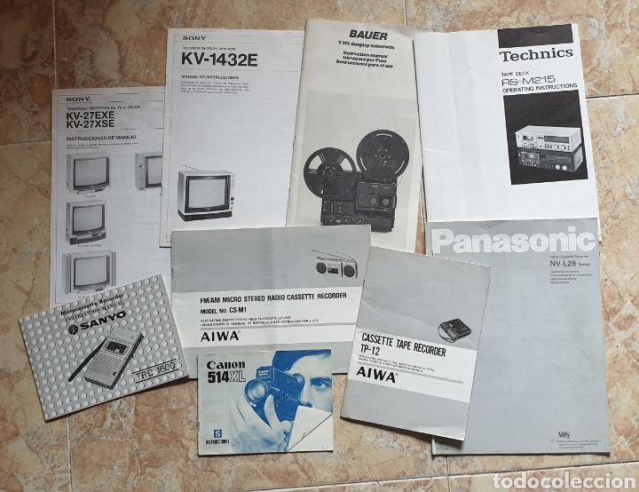 LOTE DE 9 LIBROS INSTRUCCIONES TV CASSETTE SUPER 8 AÑOS 70-80 (Radios, Gramófonos, Grabadoras y Otros - Catálogos, Publicidad y Libros de Radio)