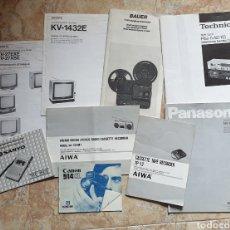 Radios antiguas: LOTE DE 9 LIBROS INSTRUCCIONES TV CASSETTE SUPER 8 AÑOS 70-80. Lote 153944944