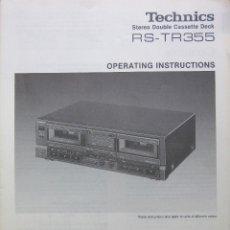 Radios antiguas: MANUAL INSTRCCIONES PLETINA CASSETTE TECHNICS RS-TR355. Lote 154414466