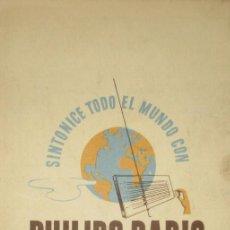 Radios antiguas: ANTIGUA LISTA DE EMISORAS DE ONDA CORTA DE PHILIPS RADIO.. Lote 154428806