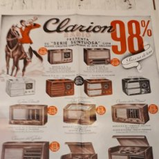 Radios antiguas: CATÁLOGO CLARIÓN RADIO, SERIE SUNTUOSA.. Lote 155091238
