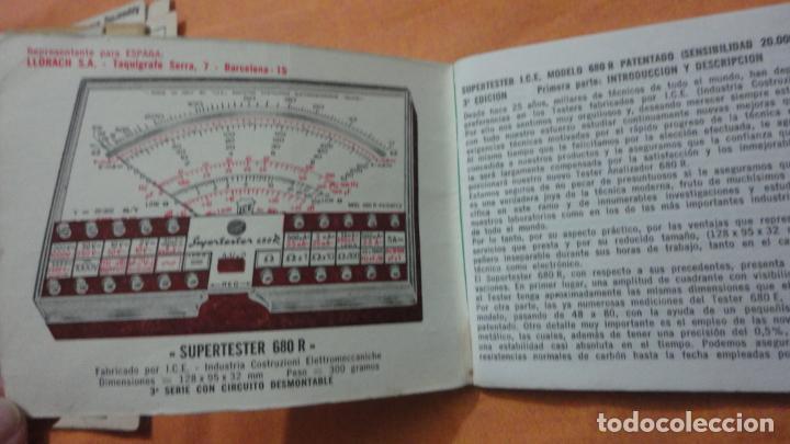 Radios antiguas: LIBRO INSTRUCCIONES SUPERTESTER 680 R.ICE.MILANO.ITALIA - Foto 2 - 155626054