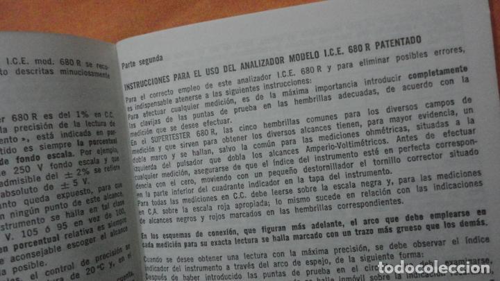 Radios antiguas: LIBRO INSTRUCCIONES SUPERTESTER 680 R.ICE.MILANO.ITALIA - Foto 3 - 155626054
