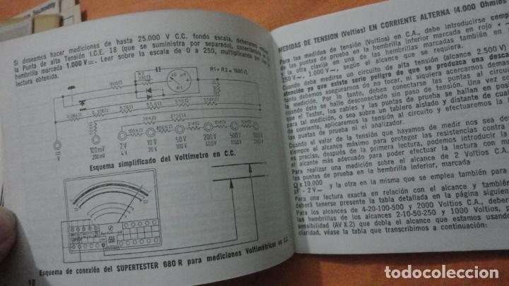 Radios antiguas: LIBRO INSTRUCCIONES SUPERTESTER 680 R.ICE.MILANO.ITALIA - Foto 4 - 155626054
