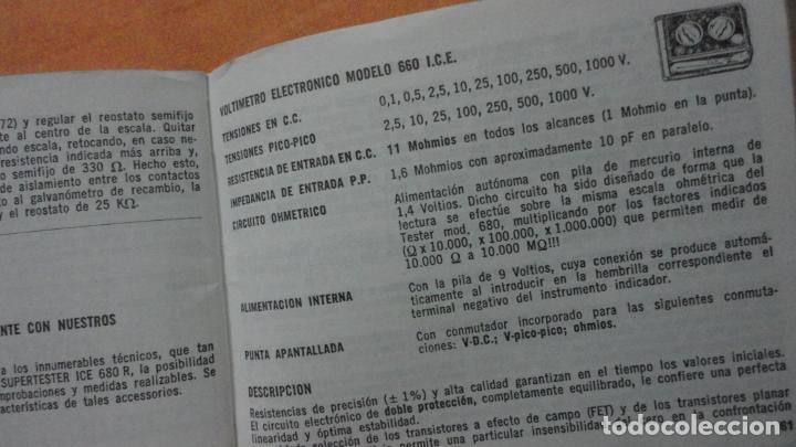 Radios antiguas: LIBRO INSTRUCCIONES SUPERTESTER 680 R.ICE.MILANO.ITALIA - Foto 7 - 155626054