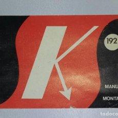 Radios antiguas: MANUAL SALES KIT 192. PROBADOR DE TRANSISTORES Y DIODOS.. Lote 155690826