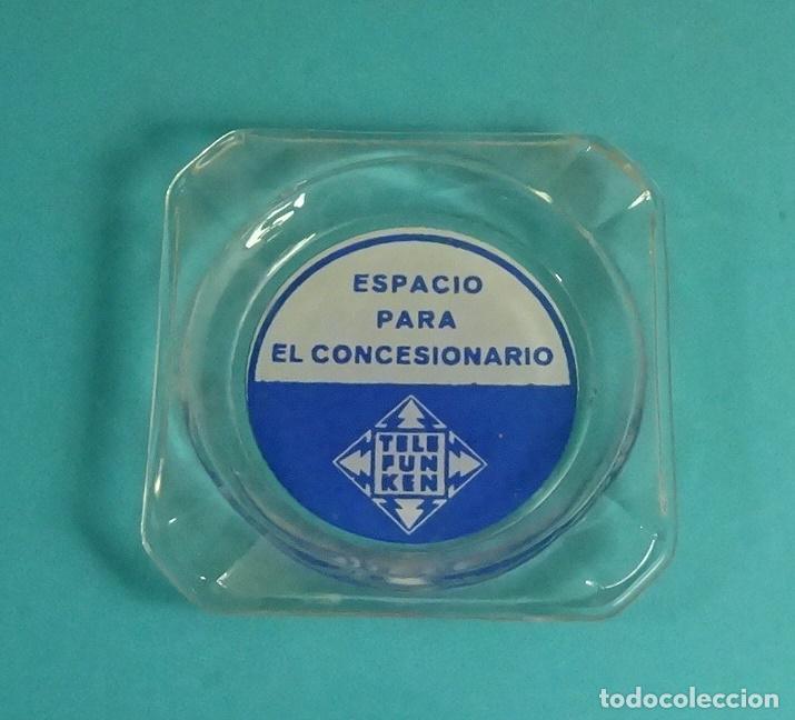 CENICERO CON PUBLICIDAD TELEFUNKEN. 9 X 9 CM (Radios, Gramófonos, Grabadoras y Otros - Catálogos, Publicidad y Libros de Radio)