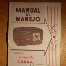 Radios antiguas - Manual de Manejo - Aparato de Radio - Inter - Modelo Horizonte Grana - - 156675382