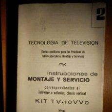 Radios antiguas: LIBRO - TECNOLOGÍA DE TELEVISIÓN - CENTRO ESTUDIOS DE TELEVISIÓN - . Lote 156929362