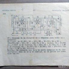 Radios antiguas: ESCUELA RADIO MAYMO, ELECTRONICA, COLECCION 8 ESQUEMAS DE RADIO. Lote 157863134