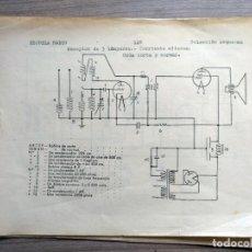 Radios antiguas: ESCUELA RADIO MAYMO, ELECTRONICA, COLECCION 8 ESQUEMAS DE RADIO . Lote 157863322