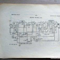 Radios antiguas: ESCUELA RADIO MAYMO, ELECTRONICA, COLECCION 8 ESQUEMAS DE RADIO . Lote 157863562