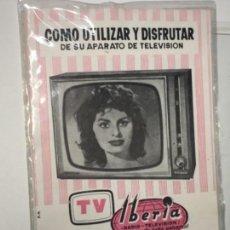 Radios antiguas: ORIGINAL CATÁLOGO TELEVISIÓN TV IBÉRIA. Lote 158658222