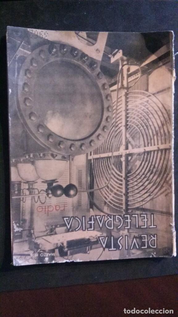 REVISTA TELEGRÁFICA-MARZO 1936 (Radios, Gramófonos, Grabadoras y Otros - Catálogos, Publicidad y Libros de Radio)